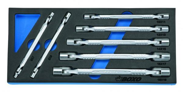 BX019 - Boxo Werkzeugeinlage Doppel-Gelenkschlüssel-Satz