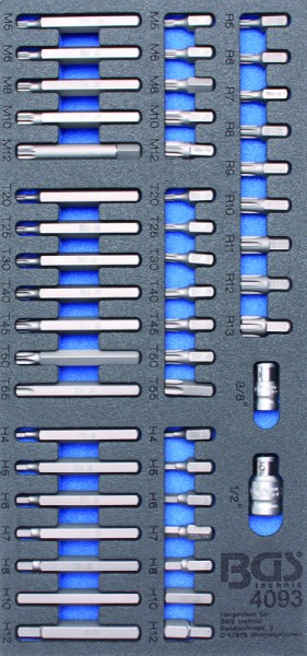 BGS - Werkstattwageneinlage Kombi-Bit-Satz, 49-tlg. (Art. 4093)