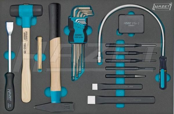 HAZET Werkzeug-Satz, Winkelschlüssel, div. Werkzeuge 163-60/22