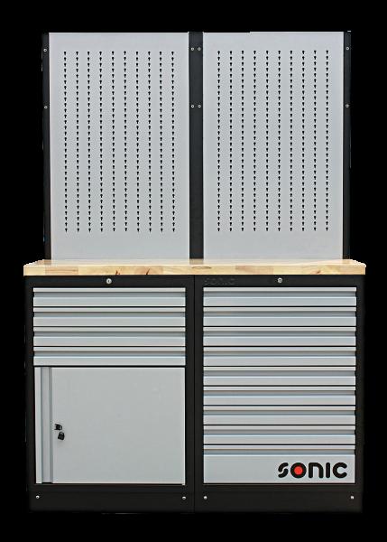 MSS 26`` 9 Schubladen, Schrank mit Türe und Lochwand