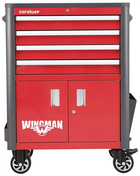 Werkstattwagen WINGMAN, 4 Schubladen, rot/anthrazit