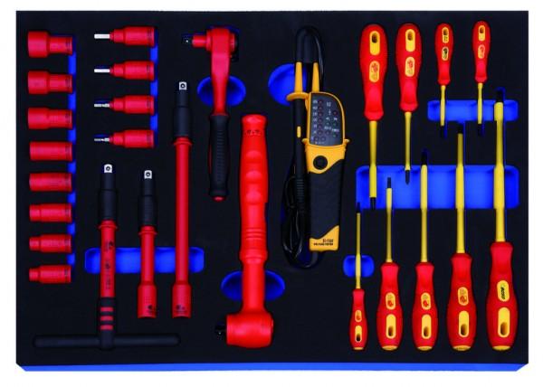 BXI-038 - Boxo Werkzeugeinlage VDE Isolierter Werkzeug-Satz für Hybrid Fahrzeuge 38-tlg. 1000 V