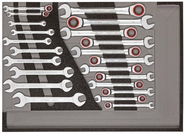 Werkzeugsatz Maul-Ringratschenschlüssel, Doppelmaulschlüssel