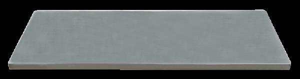 Edelstahl-Arbeitsplatte L2193 x B500 x H38