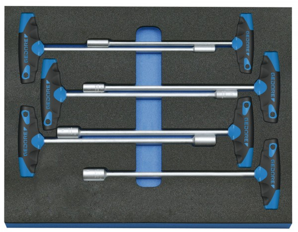 Steckschlüssel-Satz in Check-Tool-Modul, 7-tlg