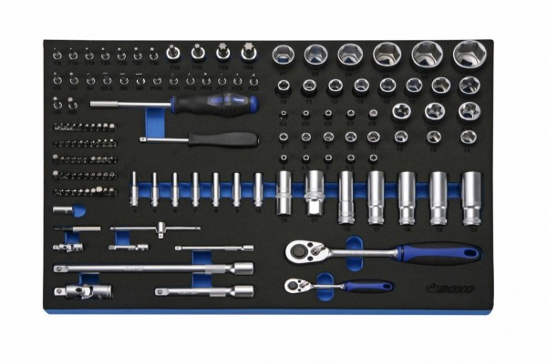 BXE179 - Boxo Werkzeugeinlage 178-tlg. Assortiment 2 Schubladen