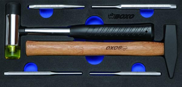 BX013 - Boxo Werkzeugeinlage Hammer und Austreiber-Satz