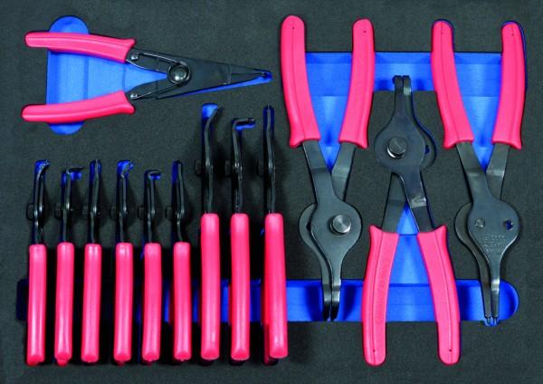 VVG005 - Boxo Werkzeugeinlage Seegeringzangen-Satz 13-tlg.