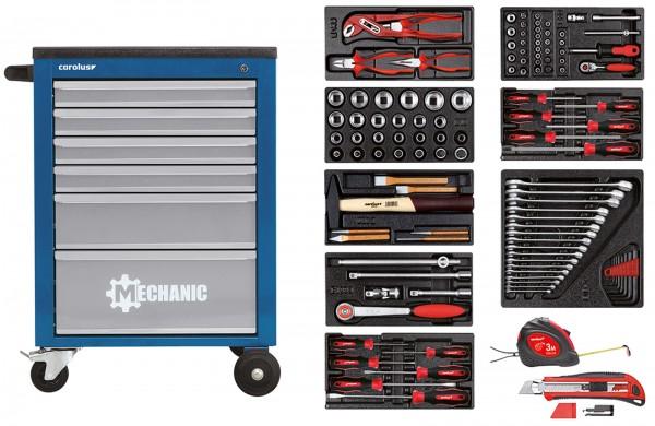 Werkstattwagen MECHANIC blau mit Werkzeugsatz 2200.080, 118-tlg