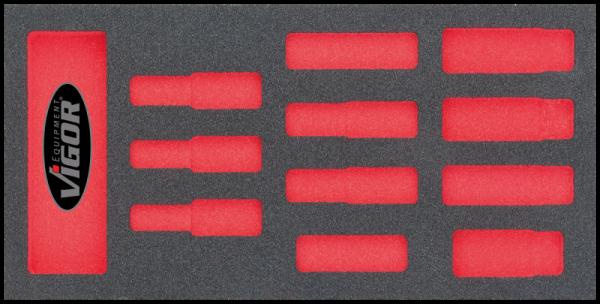 1/3 Weichschaumeinlage 1/2″- Steckschlüssel-Lang, leer V1652