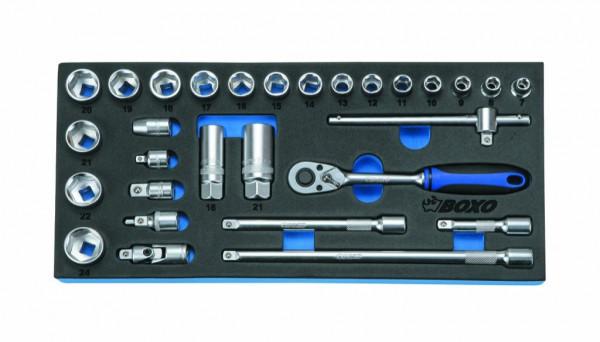 BX002A - Boxo Werkzeugeinlage Steckschlüssel-Satz