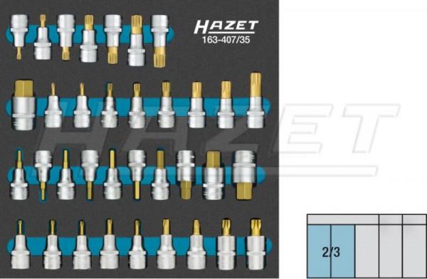 HAZET Schraubendreher-Steckschlüsseleinsatz-Satz 163-407/35