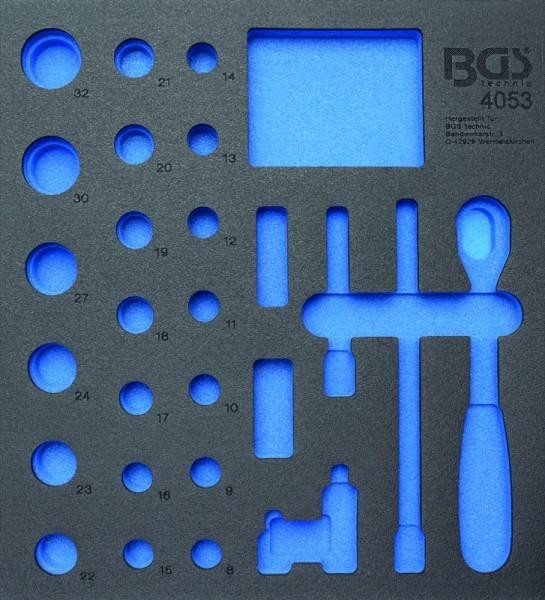 BGS - Werkstattwageneinlage (408x378x32 mm), leer, für Steckschlüsselsatz 12,5 (1/2), 27-tlg. (Art.