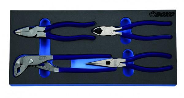 BX097 - Boxo Werkzeugeinlage Zangen-Satz 4-tlg.