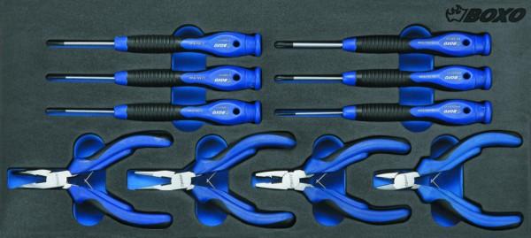 BX012 - Boxo Werkzeugeinlage Präzisions-Schraubendreher & Mini- Zangen-Satz