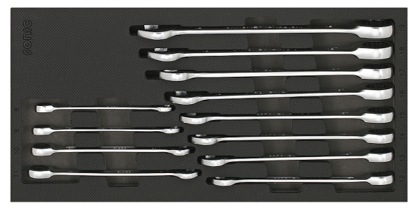 1/3 SFS Ring-Ratschen-Set, gerade, 12-tlg.
