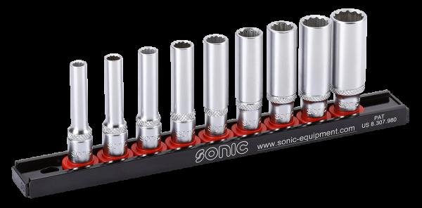 Sonic 1/4`` Nuss-Set lang (SAE ) 9-tlg.