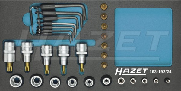 HAZET Steckschlüssel-Satz TORX® 163-192/24