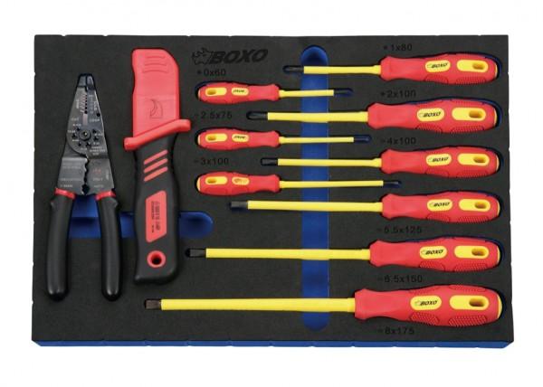 BXI-033 - Boxo VDE Isolierter Werkzeug-Satz im Powercase 33-tlg. 1000 V