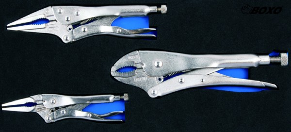 BX010 - Boxo Werkzeugeinlage Gripzangen-Satz 3-tlg.