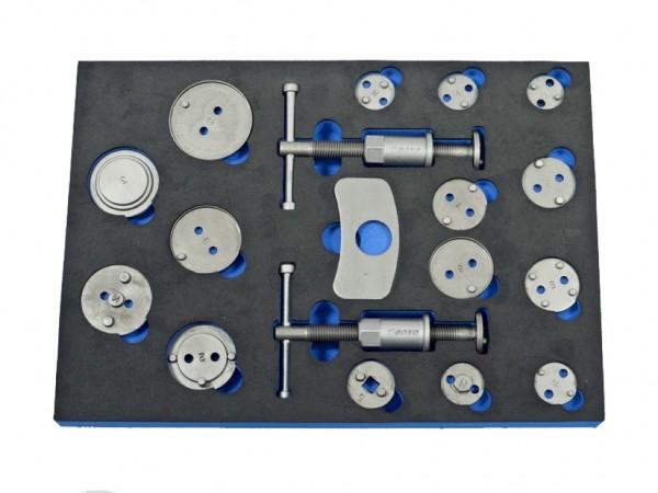 VVB001 - Boxo Werkzeugeinlage Bremkolben-Rückstell-Werkzeug 18-tlg.