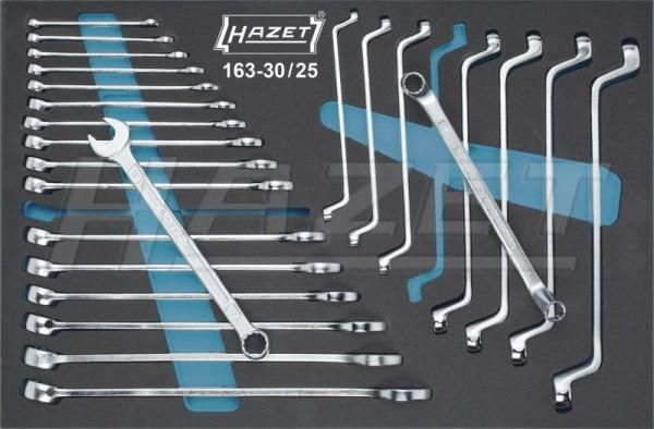 HAZET Ring-Maulschlüssel- / Doppel-Ringschlüssel-Satz 163-30/25