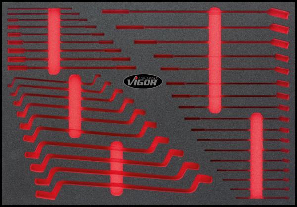 1/1 Weichschaumeinlage Flachschlüssel-Satz, leer V1974