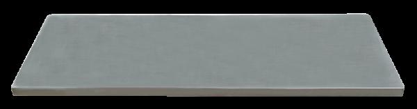 Edelstahl-Arbeitsplatte L1348 x B500 x H38