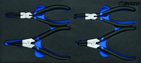 BX025 - Boxo Werkzeugeinlage Sicherungsring-Zangen-Satz 4-tlg.