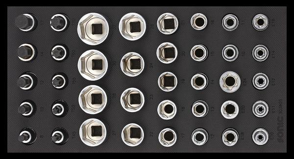 1/3 SFS 1/2`` Nuss-Set, 38-tlg.
