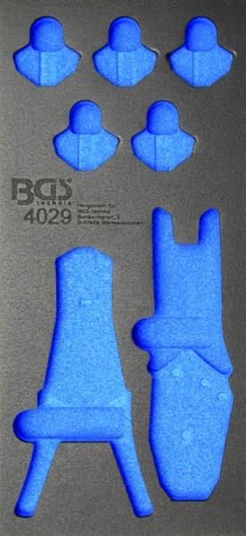 BGS - Werkstattwageneinlage (408x189x32 mm), leer, für Crimp-& Abisolierzangen (Art. 4029-1)