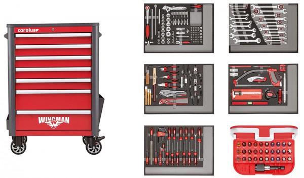 Werkstattwagen WINGMAN mit Werkzeugsatz 2250.5803, 222-tlg