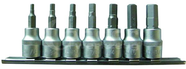 """Condor Bit-Stecknüsse, 7-tlg., 3/8"""", Innensechskant 1/8-3/8"""""""