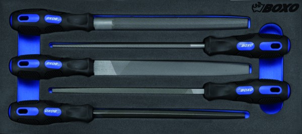 BX027 - Boxo Werkzeugeinlage Stahlfeilen-Satz 5-tlg.