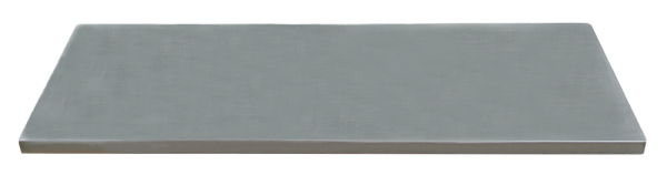 Edelstahl-Arbeitsplatte L674 x B500 x H38
