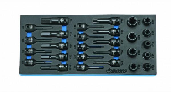 BX032 - Boxo Werkzeugeinlage Kraft-TX-Steckschlüssel-Satz