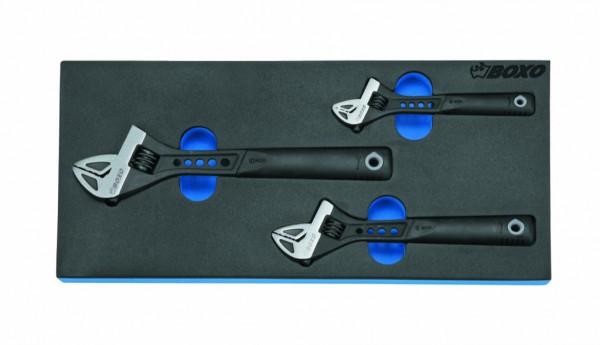 BX011 - Boxo Werkzeugeinlage Rollgabelschlüssel-Satz 3-tlg.