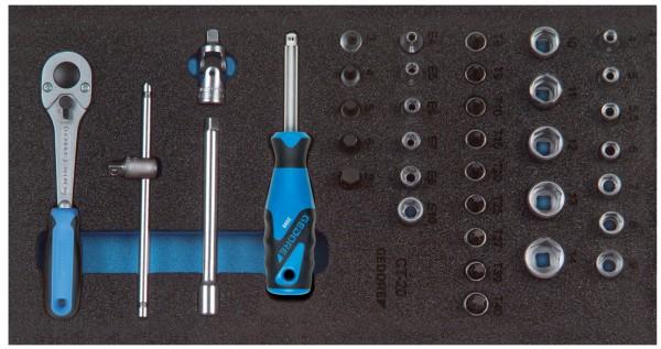 """Steckschlüssel-Sortiment 1/4"""" in Check-Tool-Modul"""
