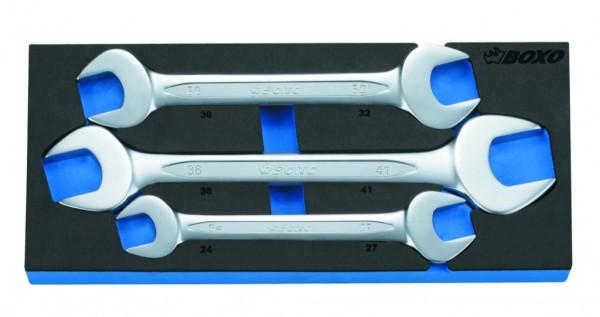 BX067A - Boxo Werkzeugeinlage Doppel-Maulschlüssel-Satz