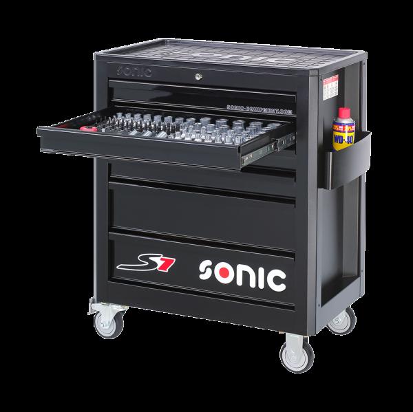 S7 Werkstattwagen-Aufbewahrungssysteme gefüllt