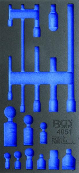BGS - Werkstattwageneinlage (408x189x32 mm), leer, für Verlängerungs-, Adapter-& Gelenk-Satz (Art. 4