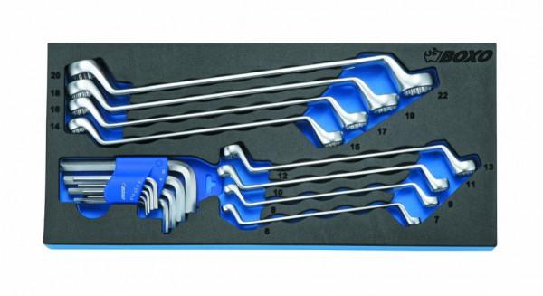 BX042 - Boxo Werkzeugeinlage Gekröpft Ringschlüssel- 75° & TX-Schlüssel-Satz