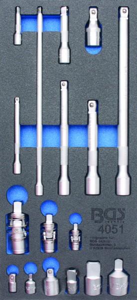 BGS - Werkstattwageneinlage Verlängerungs-, Adapter-& Gelenk-Satz (Art. 4051)