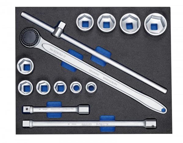 "Steckschlüssel-Sortiment 3/4"" in Check-Tool-Modul, 14-tlg"