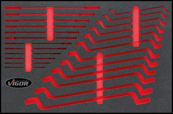 3/3 Weichschaumeinlage Flachschlüssel-Satz, leer V1513