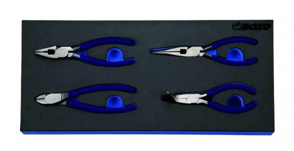 BX098 - Boxo Werkzeugeinlage Zangen-Satz 4-tlg.
