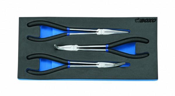 BX028 - Boxo Werkzeugeinlage Flach-Zangen-Satz 4-tlg.