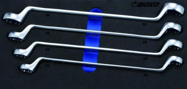 BX058 - Boxo Werkzeugeinlage 75° gekröpft, DoppelRingschlüssel-Satz