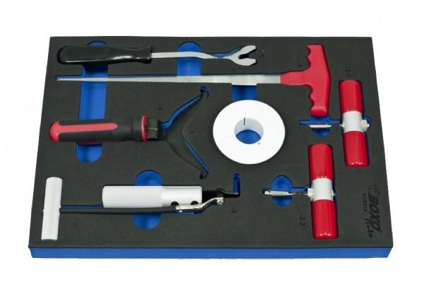 VVD014 - Boxo Werkzeugeinlage Windschutzscheiben-Demontage-Satz 7-tlg.