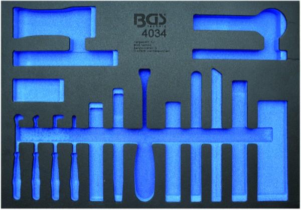BGS - Werkstattwageneinlage (408x467x32 mm), leer, für Zierleistenkeil-und Schaber-Set, 17-tlg. (Art